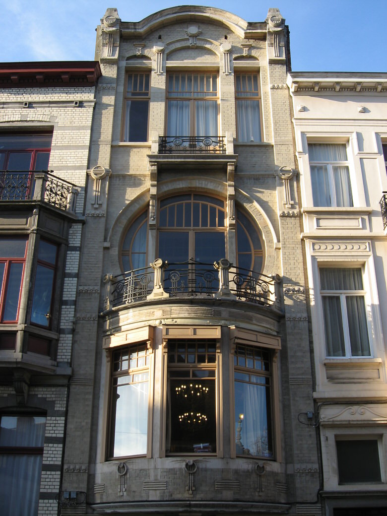 Art Nouveau house in Brussels at 92 rue Africaine