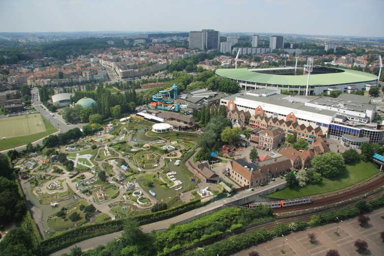 Mini-Europe, Brupark and the Heysel stadium view from Atomium
