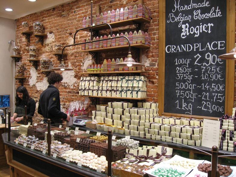 Handmade Belgian chocolate store