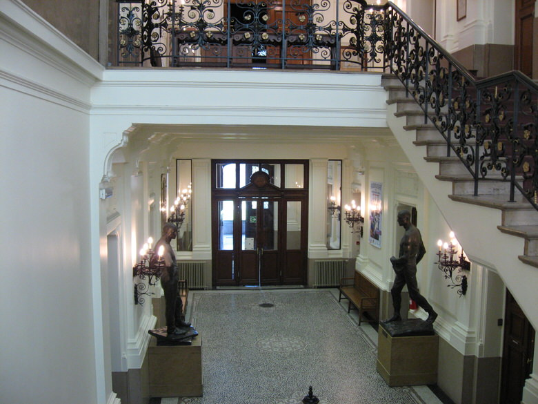 The main entrance from the interior schaarbeek municipal hall