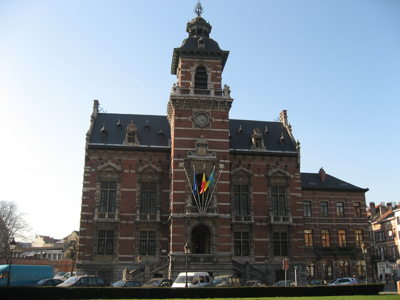 Frontal view of the Anderlecht Town hall