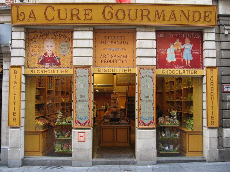 The colorful exterior of La cure Gourmande