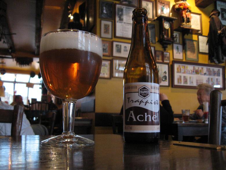 Trappist Achel to drink at The Poechenellekelder
